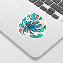 Colorful Tropical Jungle Leaves Sticker