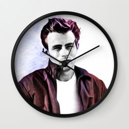 James Dean - Rebel - Pop Art Wall Clock