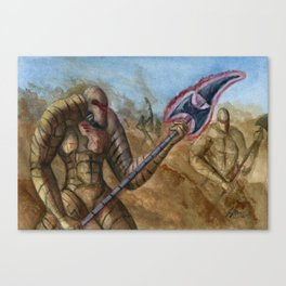 Devils In The Dust Canvas Print