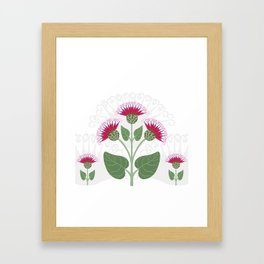 Decorative burdock flower Framed Art Print