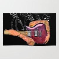 guitar Area & Throw Rugs featuring Guitar by Estrella Nicolas