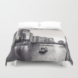Silver River Duvet Cover
