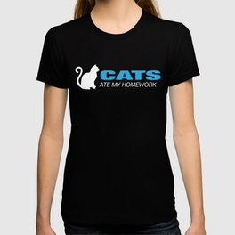 Cats Ate My Homework - Nice Cat T Shirt T-shirt