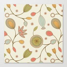 Mehndi Flower Canvas Print