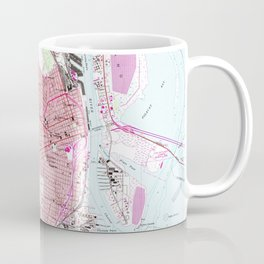 Vintage Map of Mobile Alabama (1953) Coffee Mug