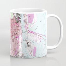 Vintage Map of Mobile Alabama (1953) Coffee Mug