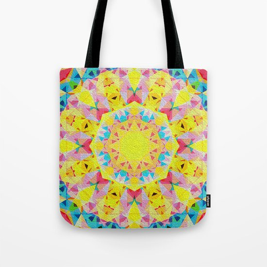 Organic Peace Oil Painting Mandala Tote Bag