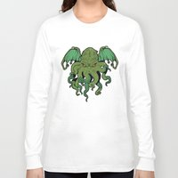 cthulhu Long Sleeve T-shirts featuring Cthulhu by missmonster