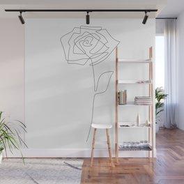 Single Rose Wall Mural