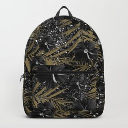 Tropical Diamond Flowers #2 #shiny #chic #floral #palms #decor #art #society6 Backpack