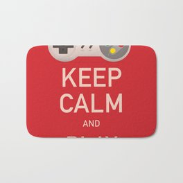 Keep Calm and Play vintage poster Bath Mat