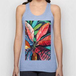 Colorful Tropical Leaves 2 Unisex Tank Top