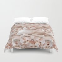 nicolas cage Duvet Covers featuring cage cat collage by Official Nicolas Cage Cats