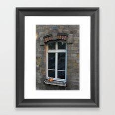 Window with oranges Framed Art Print