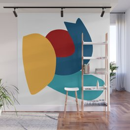 Abstract Composition Yellow Red Blue Art Minimal Wall Mural