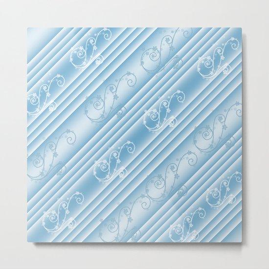 Elegant Swirl and Stripes Abstract Metal Print