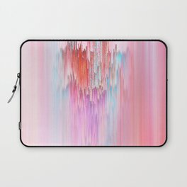Abstract Cascade Glitch 2.Red and Pink Laptop Sleeve
