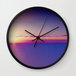 Sunset on the Atlantic Ocean Wall Clock