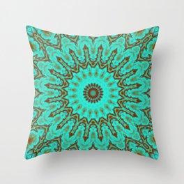Kaleido in Oxidized Copper Throw Pillow