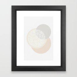 Minimalist Geometric IV, Pattern Print Framed Art Print