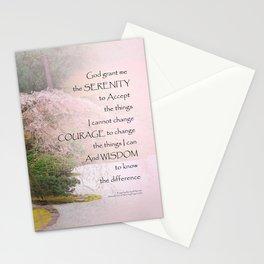Serenity Prayer Cherry Tree One Stationery Cards