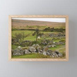Sheep Amidst English Ruins Framed Mini Art Print