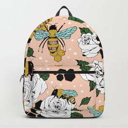 Bees on the flowers Backpack