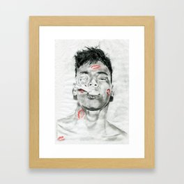 Kiss-Bombed Framed Art Print
