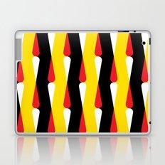 Droplet pattern - black, yellow, red Laptop & iPad Skin