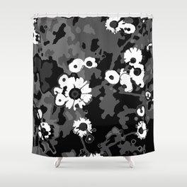 Field Daisy V - Messy Flowers Shower Curtain