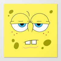 spongebob Canvas Prints featuring SpongeBob by Thorin