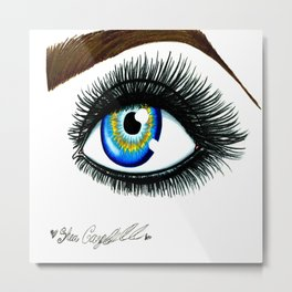 Seductive Eye. Metal Print
