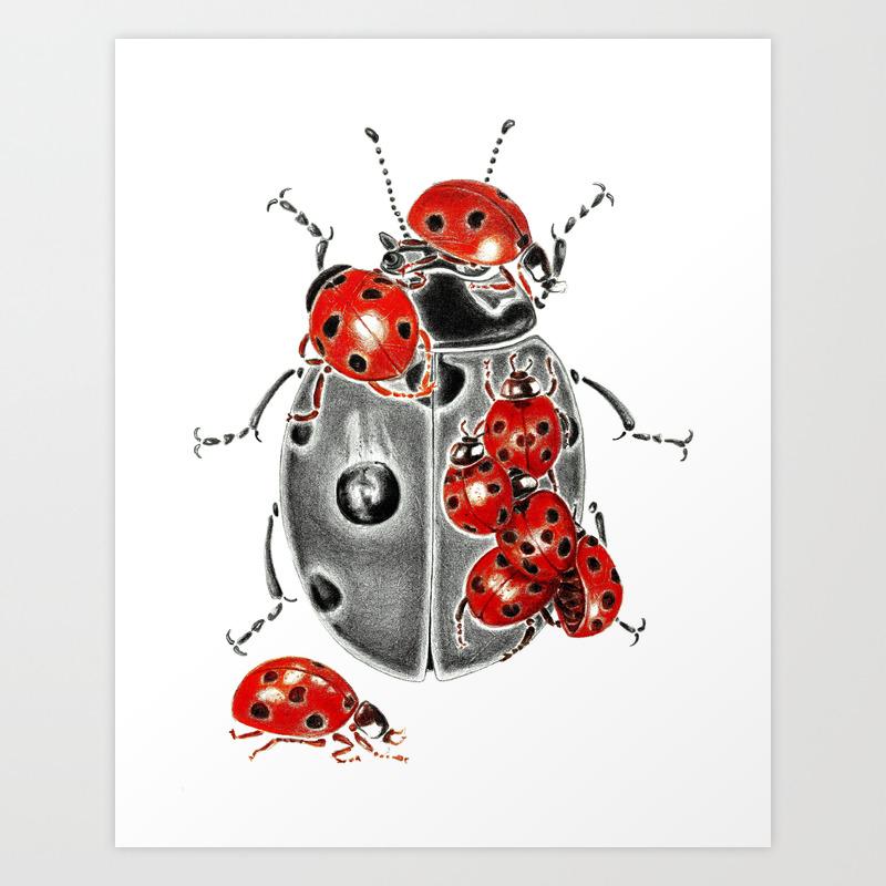 Siege Of Ladybugs Art Print By Kejla Society6