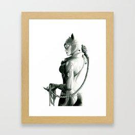 Cat woman Framed Art Print