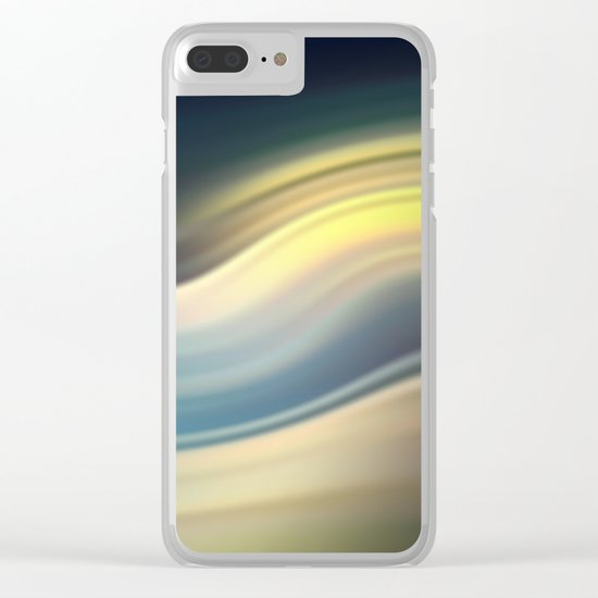 Moonlight Sonata. Abstract modern wavy flowing silk, satin, smooth Clear iPhone Case