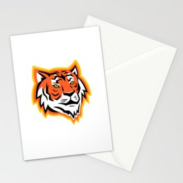 Bengal Tiger Head Mascot Stationery Cards