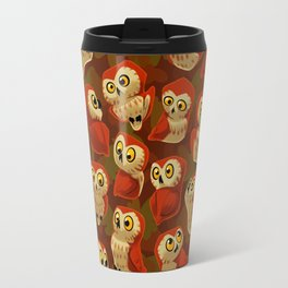 Northern Saw-whet owls pattern. Travel Mug