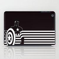 captain iPad Cases featuring captain by MISTER BLACKWHITE
