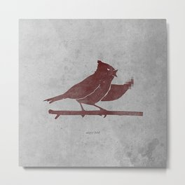 the bird is the f-word Metal Print