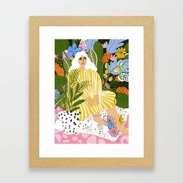 The Jungle Lady Framed Art Print