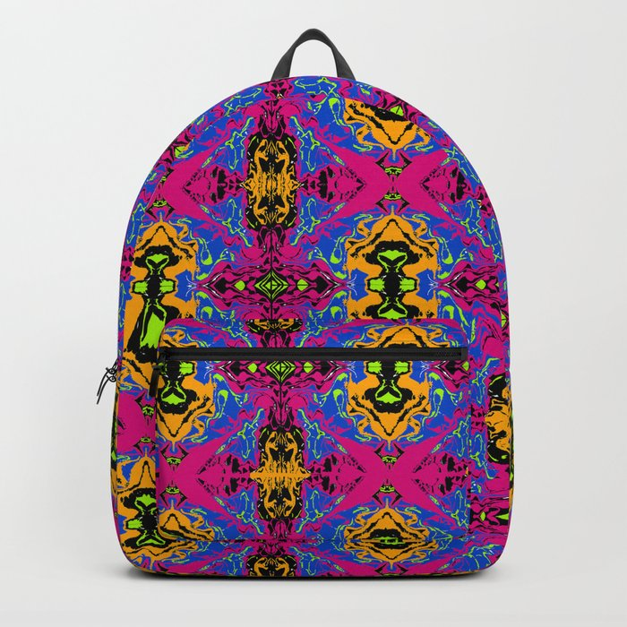 Psychedelic Kaleidoscope Cabbage Pattern Backpack