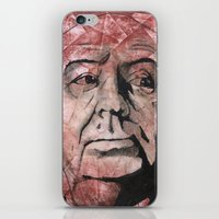hitchcock iPhone & iPod Skins featuring Hitchcock by Colunga-Art