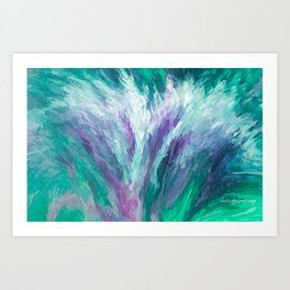 A Bouquet Of Peace, Love, Hope and Faith   Abstract Art Print