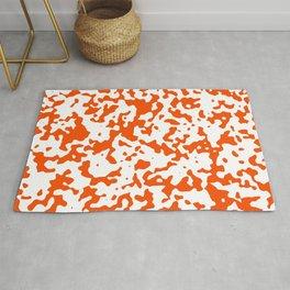 Spots - White and Dark Orange Rug