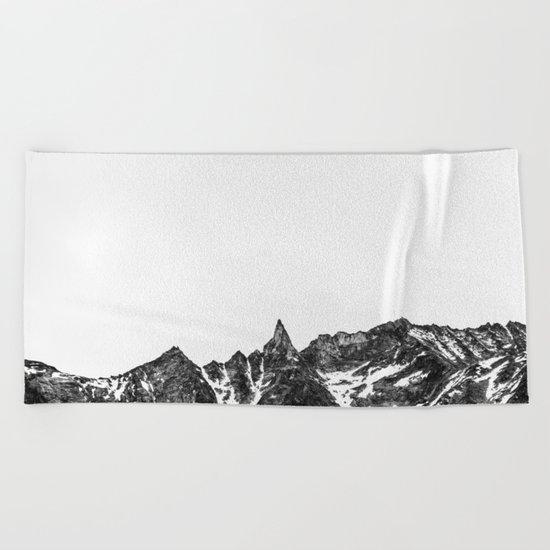 Minimalist Mountain Beach Towel