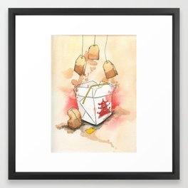Tea Bags and Take out Framed Art Print