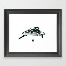 3d graffiti - ondbiqp Framed Art Print