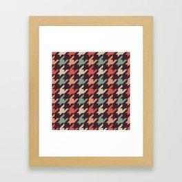 Retro alien pattern Framed Art Print