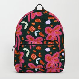 Candy flowers and easter - dark pattern Backpack