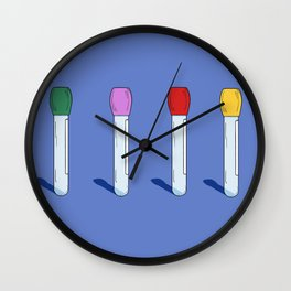 Know Your Test Tubes Wall Clock